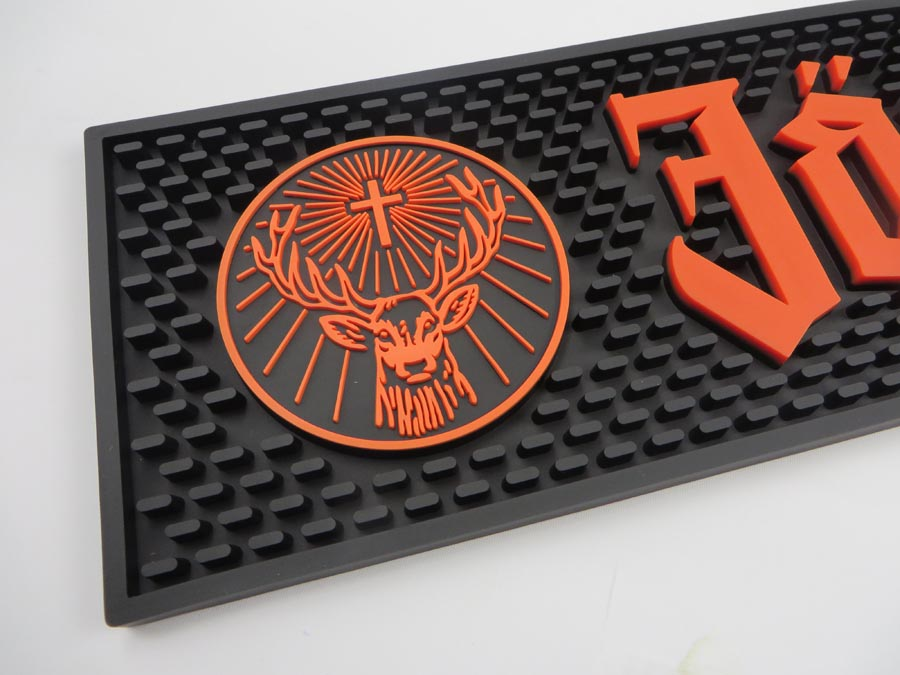 Personalized Pvc Jagermeister Bar Spill Mats For Sale