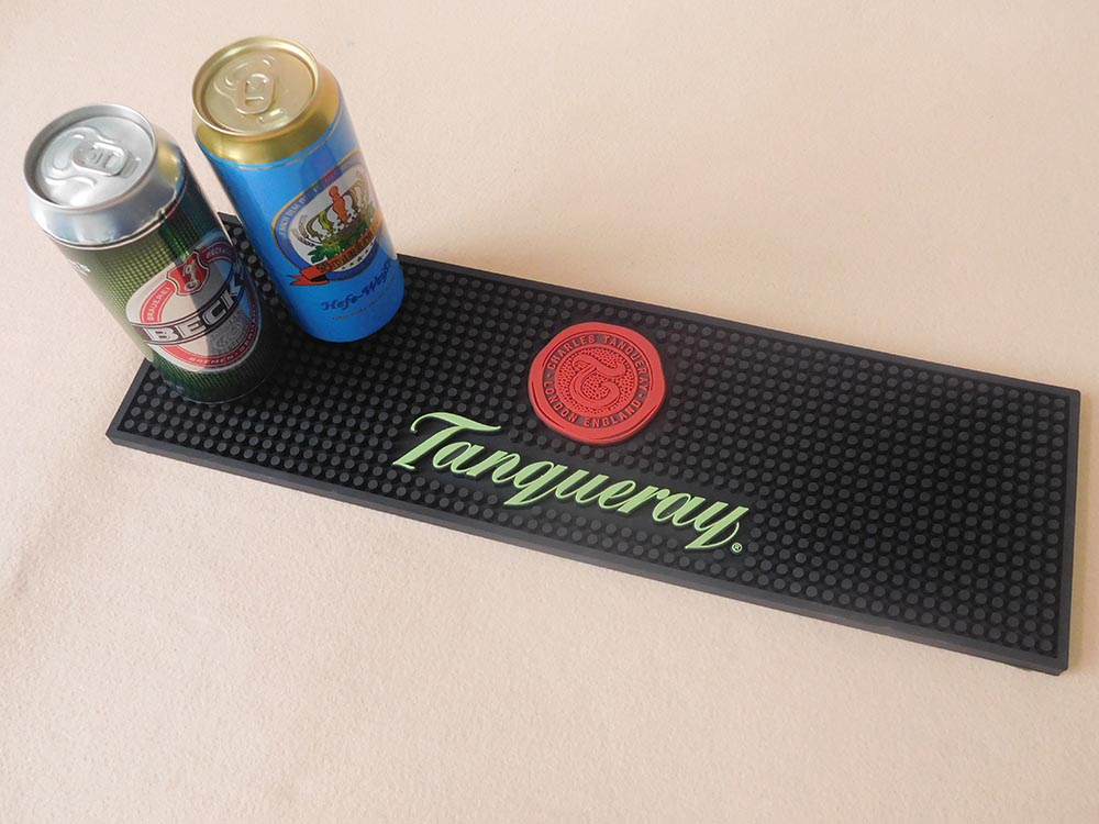 Personalised Pvc Bar Drip Rail Mat With Full Color Printing Logo