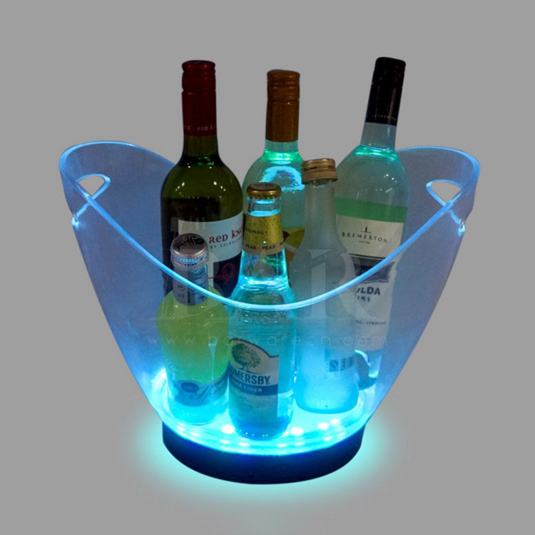 Transparent LED Ice Bucket