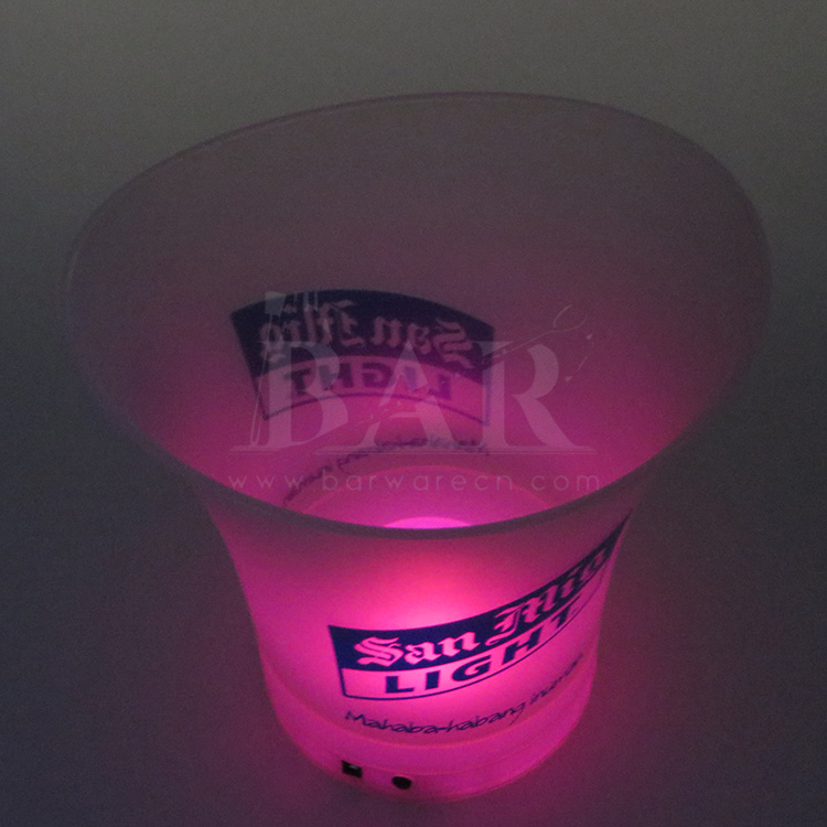 Pink Light Ice Bucket