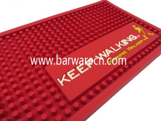 Custom Pvc Red Johnnie Walker Bar Drink Mats Suppliers And