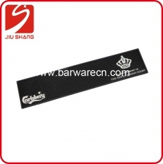 Black PVC Bar Service Mat