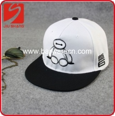 Canvas Hip Hop Hat With Baymax Logo