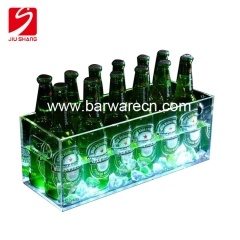 Wholesale extra large acrylic beer ice bucket with handle for wine manufacturer