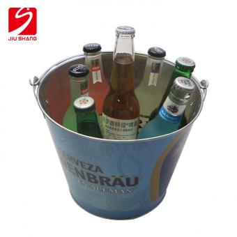 Tin Plate Ice Bucket With Bottle Opener