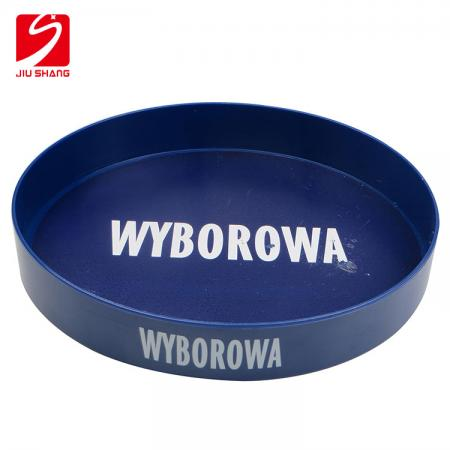 Custom Round Plastic Bar Serving Tray With Printing Logo
