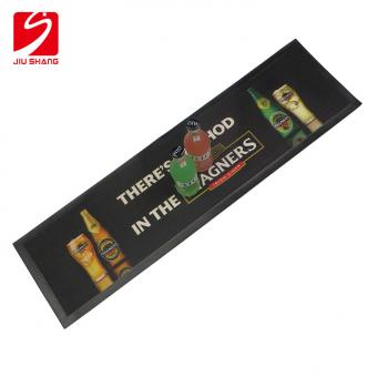Logo Printed Rubber Bar Mat