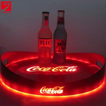 Anti-slip Beer Serving Tray With Lighting Logo
