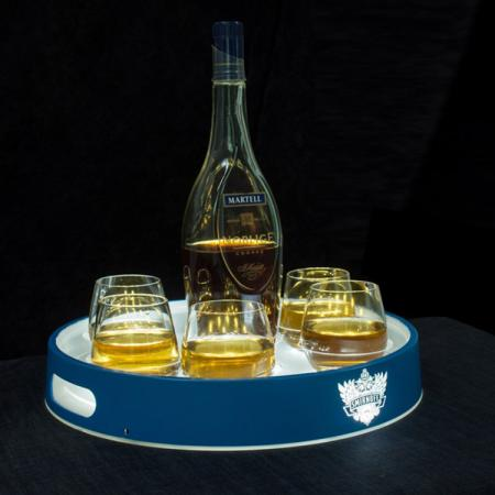 LED Plastic Beer Serving Tray for Glasses
