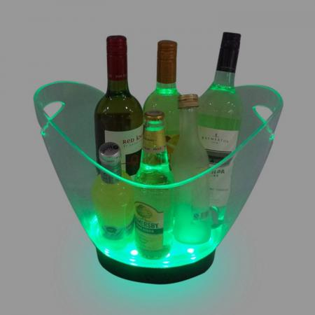 LED Color Change Transparent Plastic Ice Bucket