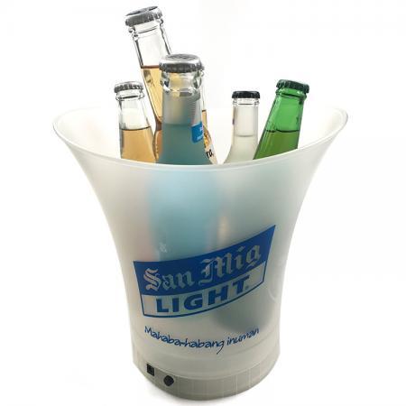 Silk Printing LED Light Beer Bucket