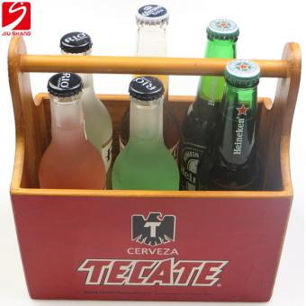 Silk Printing Wooden Beer Carrier
