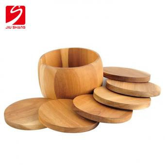 Anti Slip Bamboo Coasters
