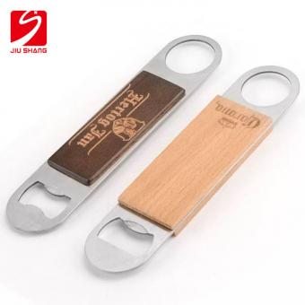 Stainless Steel & Wooden Bar Blade