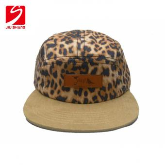 Natural Cotton Snapback Hat With Lether Patch