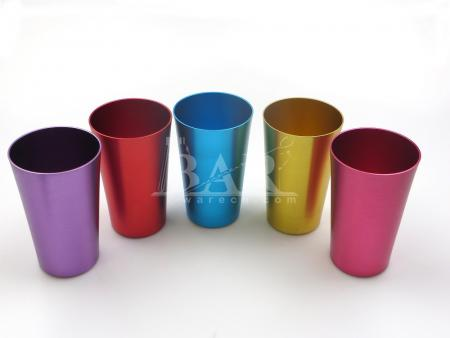Glasses Vintage Anodized Metal Tumblers Assorted
