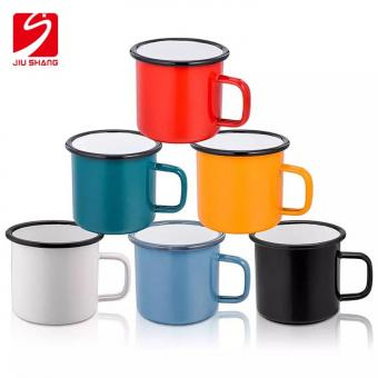 Outdoor high quality Customized printed Colorful Sublimation or Logo printing Custom Camping Ename Mug