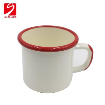 Plain White Enamel Esoresso Coffee Cups