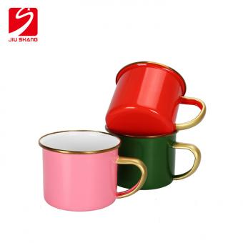 Promotional Enamel Drinking Cups with Handle for bar and Restaurant