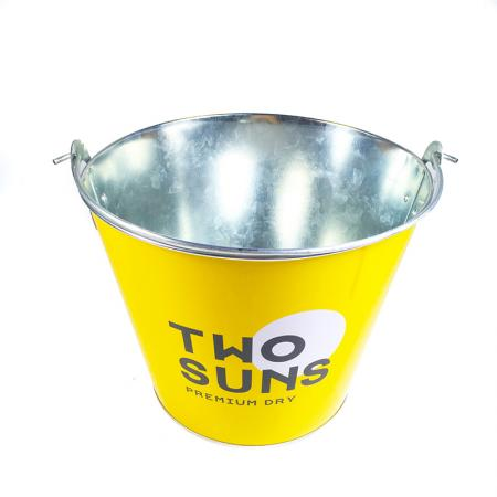 5L capacity metal beer galvanized iron ice bucket