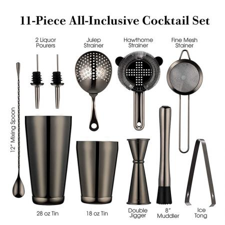 Stainless Steel 11 -Piece All-Inclusive Cooktail Set