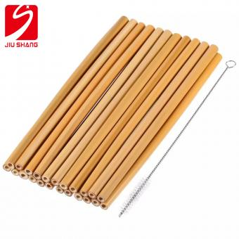 Customized Logo Reusable Bamboo Drinking Straw