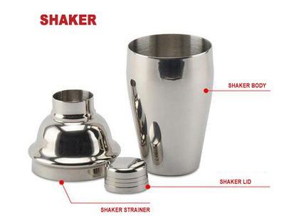 What is the difference between a Japanese cocktail shaker and a European cocktail shaker?